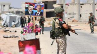 Un point de passage vers la province d'Idleb contrôlé par les forces syriennes et russes (archives).