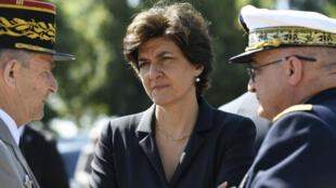 La ministre des Armées Sylvie Goulard lors de la cérémonie d'anniversaire de l'appel du genéral de Gaulle, le 18 juin 2017, à Suresnes.
