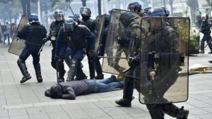 Des heurts entre manifestants et policiers ont notamment eu lieu à Nantes, lors des manifestations anti Loi Travail du 28 avril.