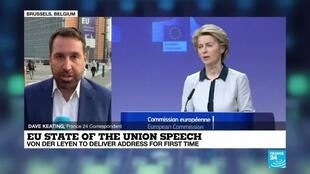 2020-09-16 08:01 UE 'State of the Union' speech: Comission President von der Leyen to give address for first time