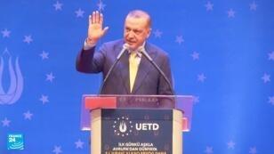 الرئيس التركي رجب طيب أردوغان في ساراييفو 20 أيار/مايو 2018.