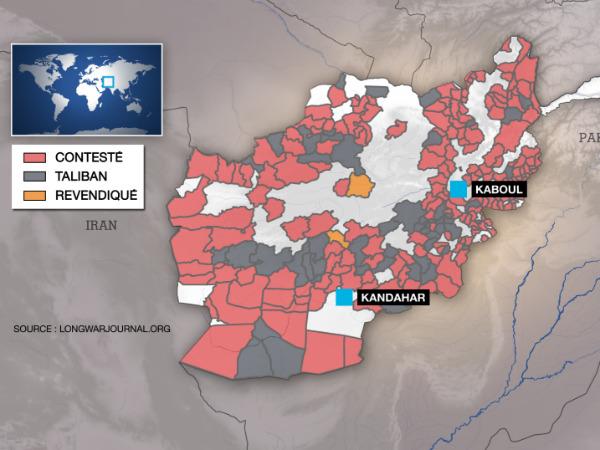 Les Taliban, qui contrôlent de vastes pans du pays, sont parvenus ces derniers mois à s'emparer de nouveaux territoires et s'en sont même pris à des capitales provinciales.