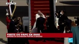 2021-03-05 11:59 Replay -  Arrivée du souverain pontife à Bagdad
