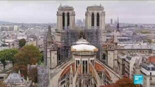 2019-12-14 17:12 Paris Notre Dame cathedral painstaking restoration effort unveiled in rare look