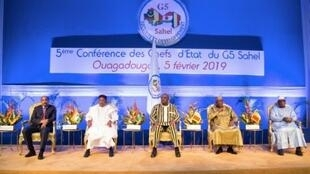 قمة دول منطقة الساحل الإفريقية في واغادوغو 5 فبراير 2019