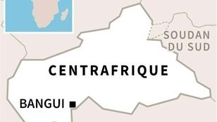 Carte de Centrafrique localisant Bangui