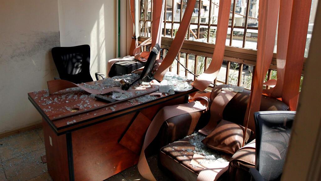 El centro de medios dirigidos por Hezbolá en beirut, Líbano, sufrió un ataque por parte de un dron del que los islámicos culpan a Israel