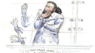 L'accusé, Abdelkader Merah, lors de son procès, le 3 octobre 2017.