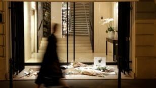 La vitrine d'une boutique Chanel à Paris le 19 février 2019