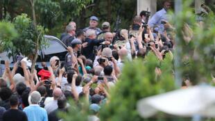 Luiz Inácio Lula da Silva, llega al cementerio para asistir al funeral de su nieto de 7 años, en Sao Bernardo do Campo, en Brasil, el 2 de marzo de 2019.