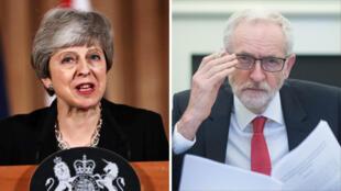 Theresa May (izquierda) sigue buscando alternativas para que la salida de Reino Unido del bloque europeo se produzca con un acuerdo.