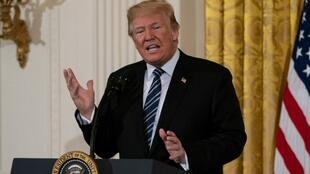الرئيس الأمريكي دونالد ترامب في البيت الأبيض 18 أيار/مايو 2018.