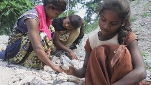 In Jharkhand, one of India's poorest States, children are seen picking mica. Child labour is still one of the main sources of mica production, a mineral coveted by many industries for its alluring sparkle.