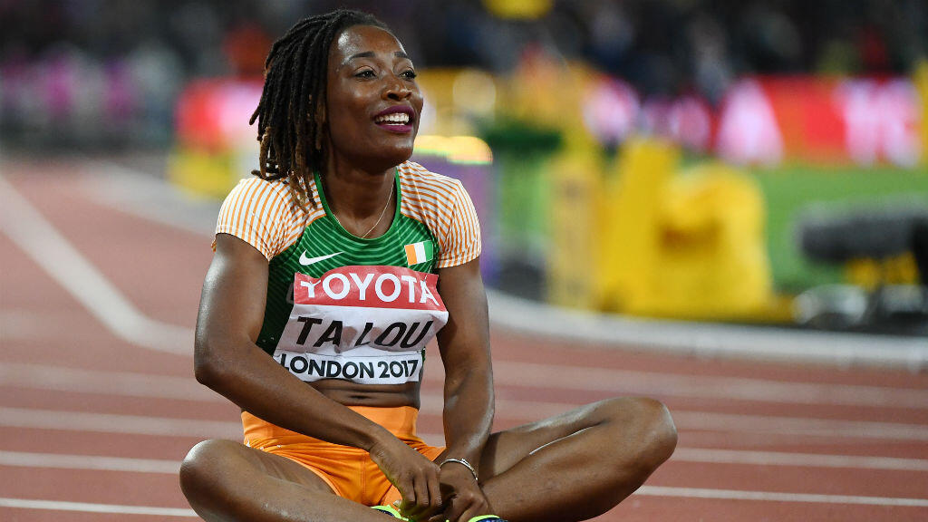 L'Ivoirienne Marie-Josée Ta Lou a terminé deuxième du 200 m aux championnats du monde d'athlétisme de Londres, le 12 août 2017.