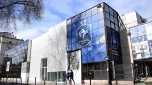 Le siège de la Ligue du football professionnel, le 14 mars 2020 à Paris