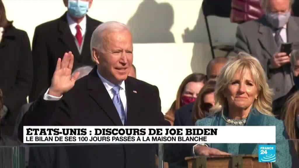 2021-04-28 18:08 Discours de Joe Biden : le bilan de ses 100 jours passés à la Maison blanche