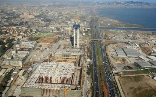 موقع بناء ثالث أكبر مسجد في المنطقة والأكبر في أفريقيا بالجزائر- 26 نيسان/أبريل 2016