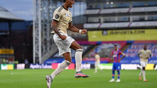 Manchester United's Marcus Rashford scored against Crystal Palace