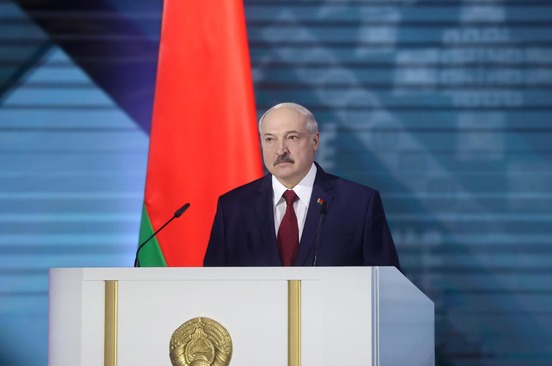 Le président biélorusse Alexandre Loukachenko lors de son discours annuel à la Nation, à Minsk, le 4 août 2020.