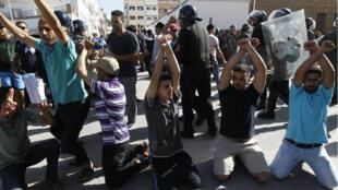 Les manifestants réclamaient la libération des leaders de leur mouvement jeudi 20 juillet.