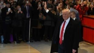 الرئيس الأمريكي المنتخب دونالد ترامب في نيويورك في 22 تشرين الثاني/نوفمبر 2016