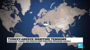 2020-08-26 13:06 Turkey and Greece at odds over rights to offshore energy