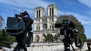"""Notre-Dame's chief priest said the surrogate """"cathedral"""" would be erected quickly"""