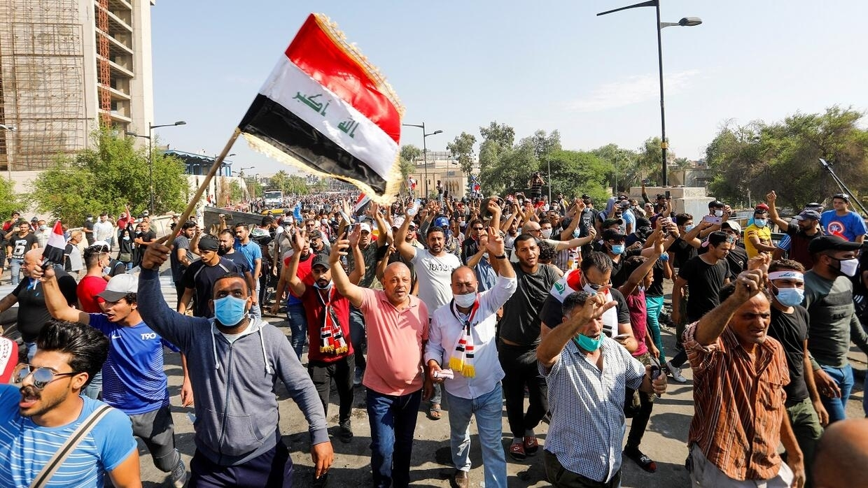 """Résultat de recherche d'images pour """"IRAQ, political, Violences, Baghdad city, Iraq, 2019, 2020"""""""