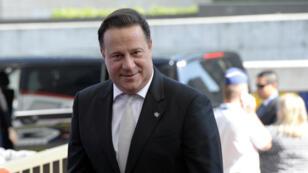 Le président panaméen Juan Carlos Varela, le 11 juin 2015, à Bruxelles.