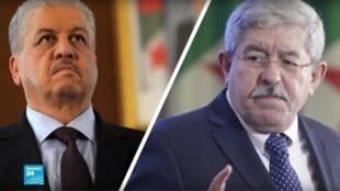 Deux anciens Premiers ministres algériens, Ahmed Ouyahia et Abdelmalek Sellal.