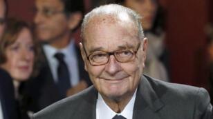 L'ancien président Jacques Chirac photographié au musée du quai Branly, en novembre 2014.