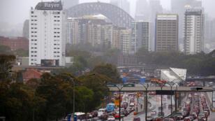 Las fuertes precipitaciones en la ciudad de Sidney han provocado el congestinamiento de las principales vías durante la jornada del 28 de noviembre de 2018.