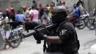 HAITI-PROTEST-Police