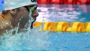 Le Hongrois Tamas Kenderesi lors du 200 m papillon aux Championnats du monde à Gwangju, en Corée du Sud, le 24 juillet 2019