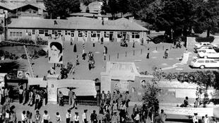 A view of the US embassy compound on November 5, 1979, a day after followers of the Ayatollah Khomeini stormed the building and took hostages.