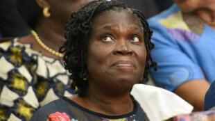 Simone Gbagbo devant la Cour de justice d'Abidjan, le 26 décembre 2014.