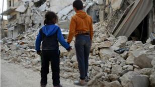 Les ruines d'une habitation à Al-Bab, ville syrienne reprise par la Turquie et les rebelles, le 7 mars 2017.