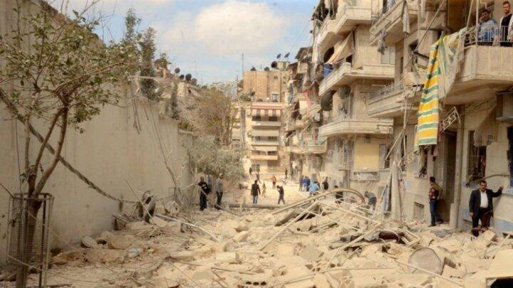 جانب من حلب وما لحقها من دمار نتيجة الحرب