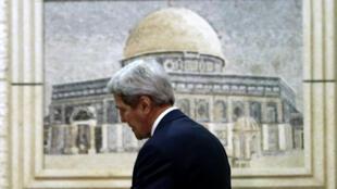 Le secrétaire d'État américain John Kerry lors d'une visite infructueuse à Ramallah en novembre 2015.