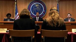 Le président de la Commission fédérale des communications (FCC), Ajit Pai, le 14 décembre à Washington.
