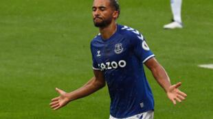 Cloud nine: Dominic Calvert-Lewin has scored nine goals in six appearances for Everton this season