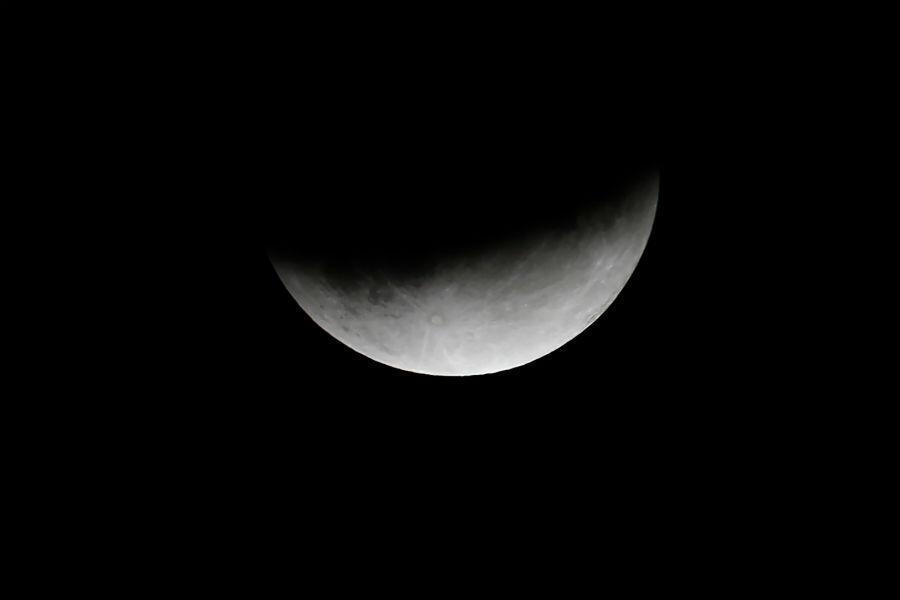 L'éclipse partielle de Lune vue depuis Cognocoli-Monticchi, en Corse, le 16 juillet 2019.