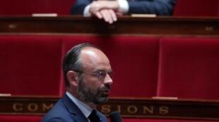 Édouard Philippe lors des questions au gouvernement à l'Assemblée nationale, le 19 mai 2020 à Paris