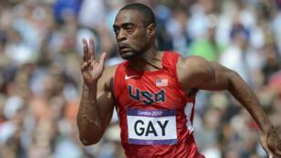 Tyson Gay aux Jeux olympiques de Londres en 2012