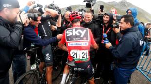 Chris Froome al final de la vigésima etapa de la Vuelta de España. El 9 de septiembre 2017.
