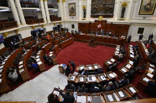 Vista general del Congreso peruano de Lima, durante la sesión para suspender al legislador Kenji Fujimori, el 6 de junio de 2018.