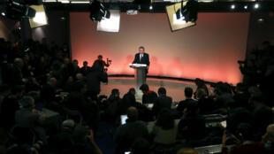 François Bayrou lors de sa conférence de presse mercredi 22 février.