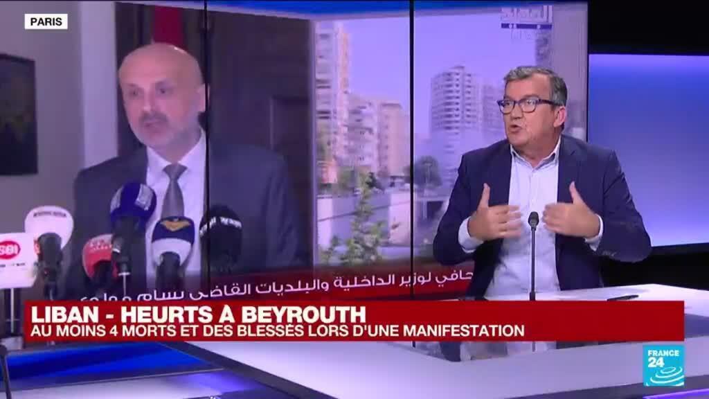 2021-10-14 13:01 Heurts à Beyrouth : plusieurs morts en marge d'une manifestation contre le juge T. Bitar