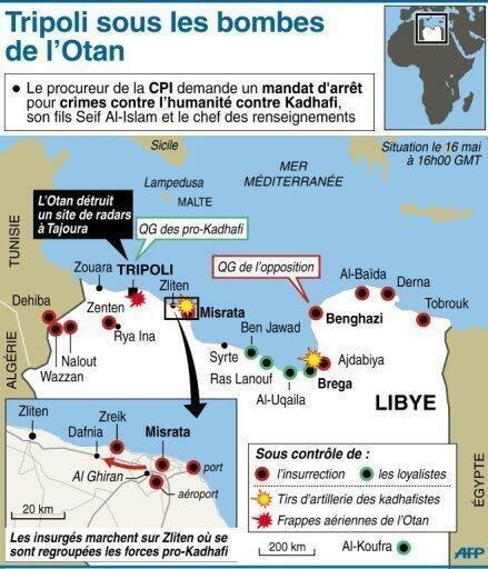 Carte du conflit en Libye