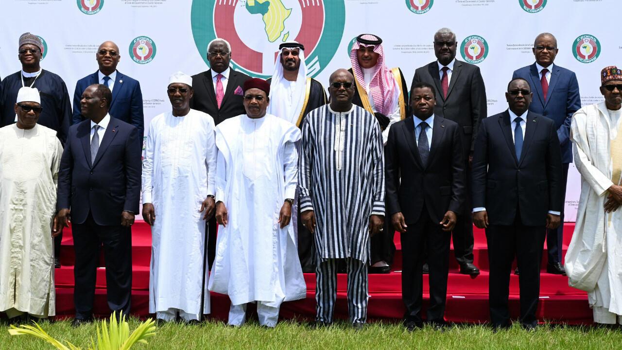 Les dirigeants ouest-africains à l'occasion d'un sommet de la Cédéao, dans capitale du Burkina Faso, le 14 septembre 2019.